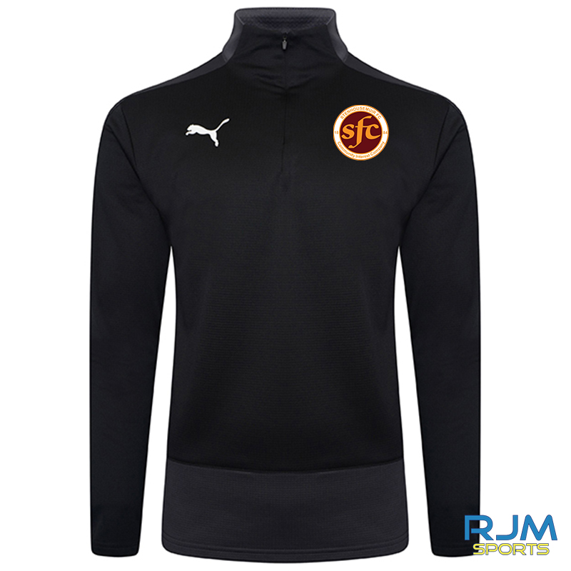 Stenhousemuir FC Puma Goal 1/4 Zip Top Black