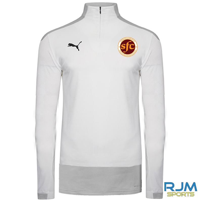 Stenhousemuir FC Puma Goal 1/4 Zip Top White