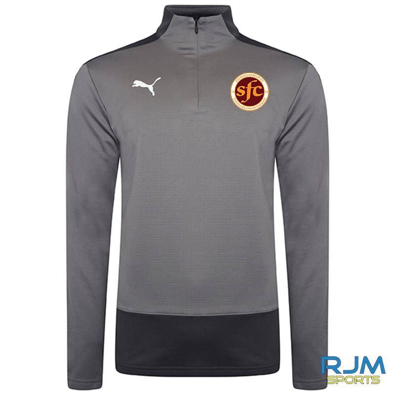 Stenhousemuir FC Puma Goal 1/4 Zip Top Steel Grey