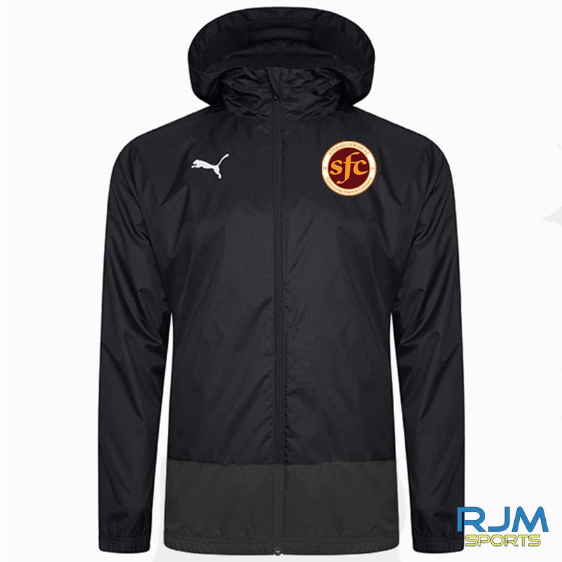 Stenhousemuir FC Puma Goal Rain Jacket Black