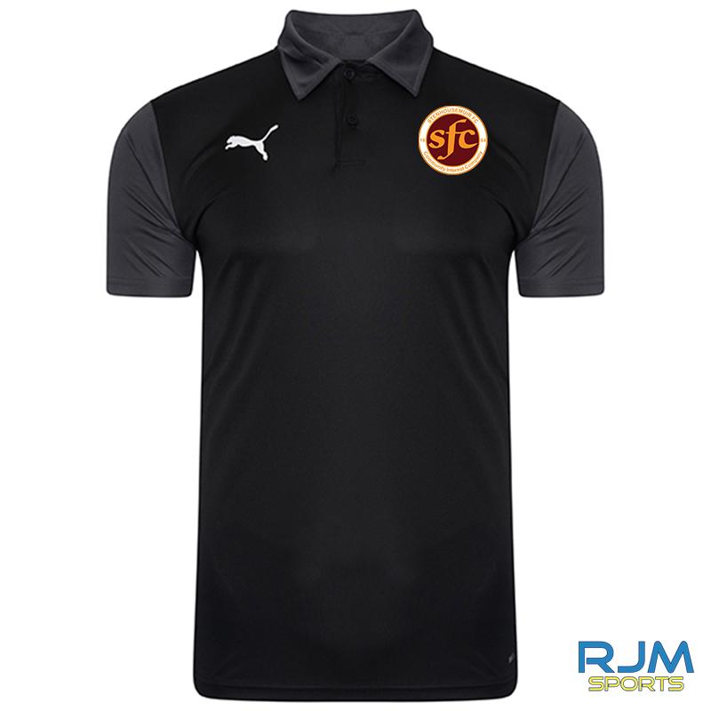 Stenhousemuir FC Puma Goal Sideline Polo Shirt Black