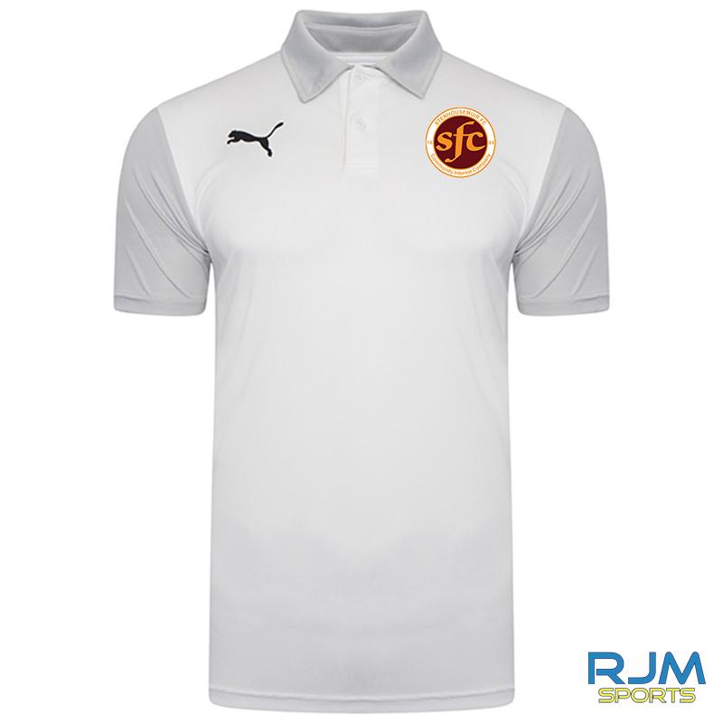 Stenhousemuir FC Puma Goal Sideline Polo Shirt White