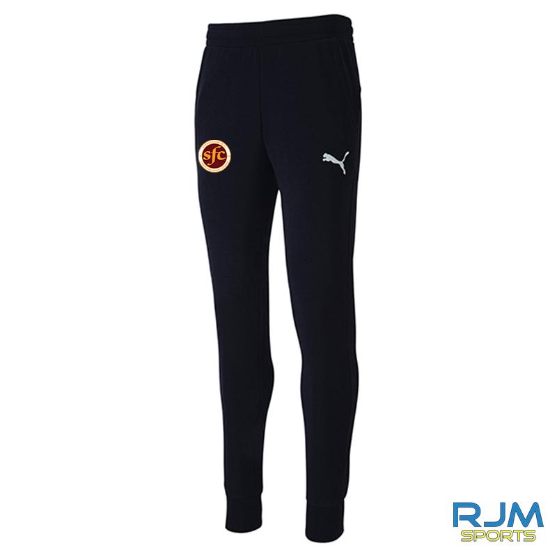 Stenhousemuir FC Puma Goal Casuals Pants Black