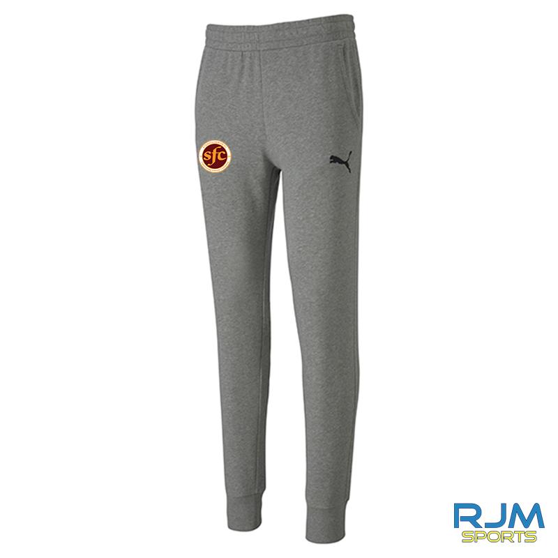 Stenhousemuir FC Puma Goal Casuals Pants Heather Grey
