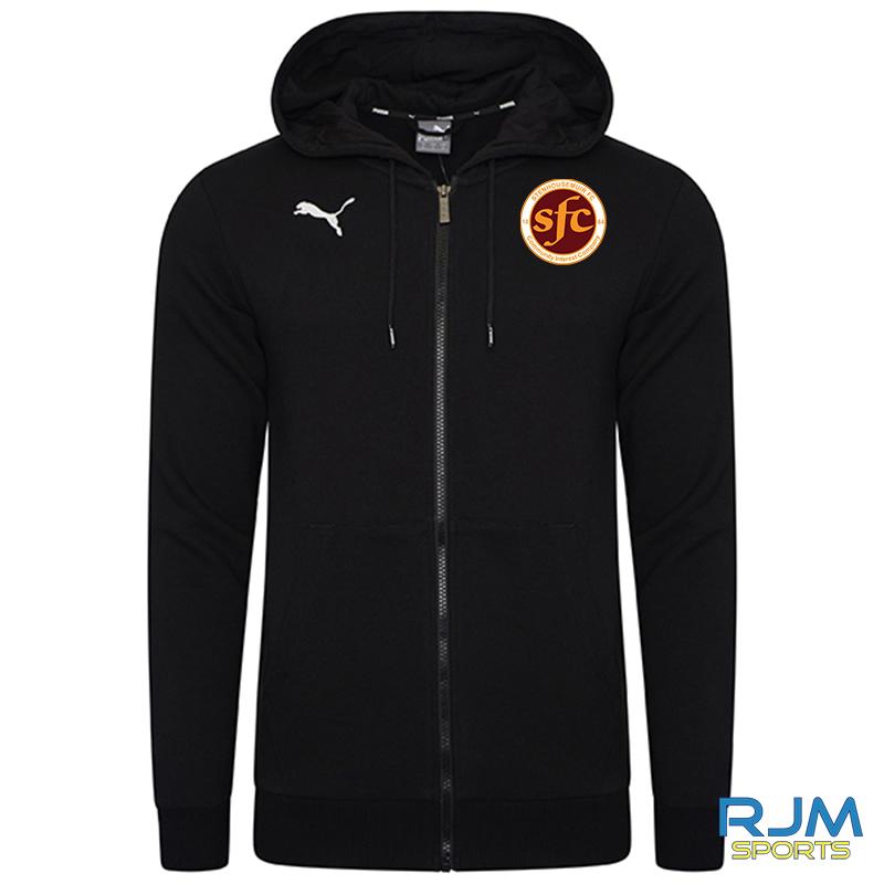 Stenhousemuir FC Puma Goal Casuals Zip Hoody Black
