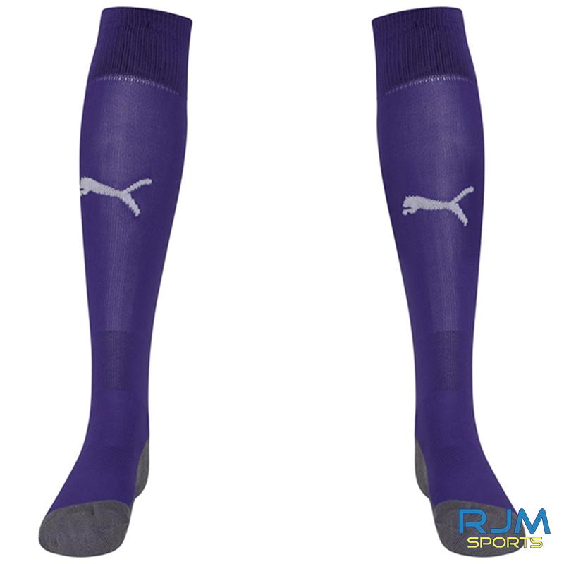 Stenhousemuir FC Puma Liga Core 2021/22 GK Socks Prism Violet
