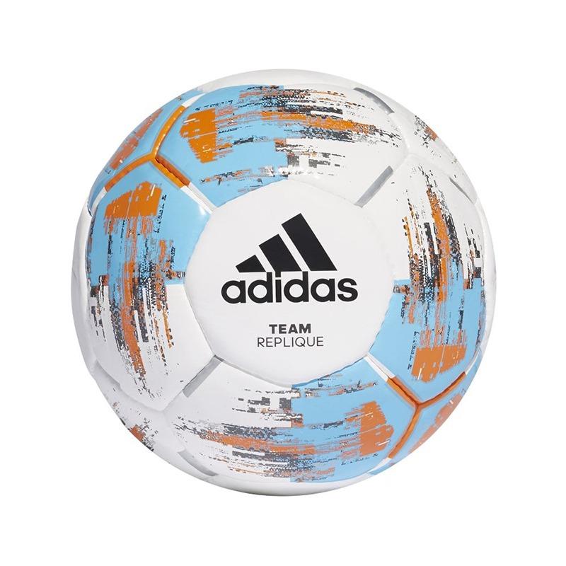 adidas Team Replique Football White/Bright Cyan/Bright Orange Size 5