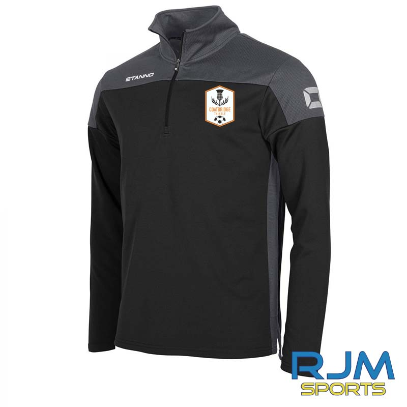 Coatbridge Thistle FC Coaches Stanno Pride Quarter Zip Black Antracite