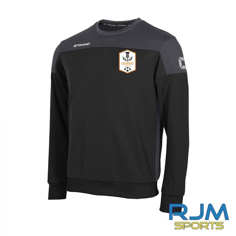 Coatbridge Thistle FC Coaches Stanno Pride Sweatshirt Black Antracite