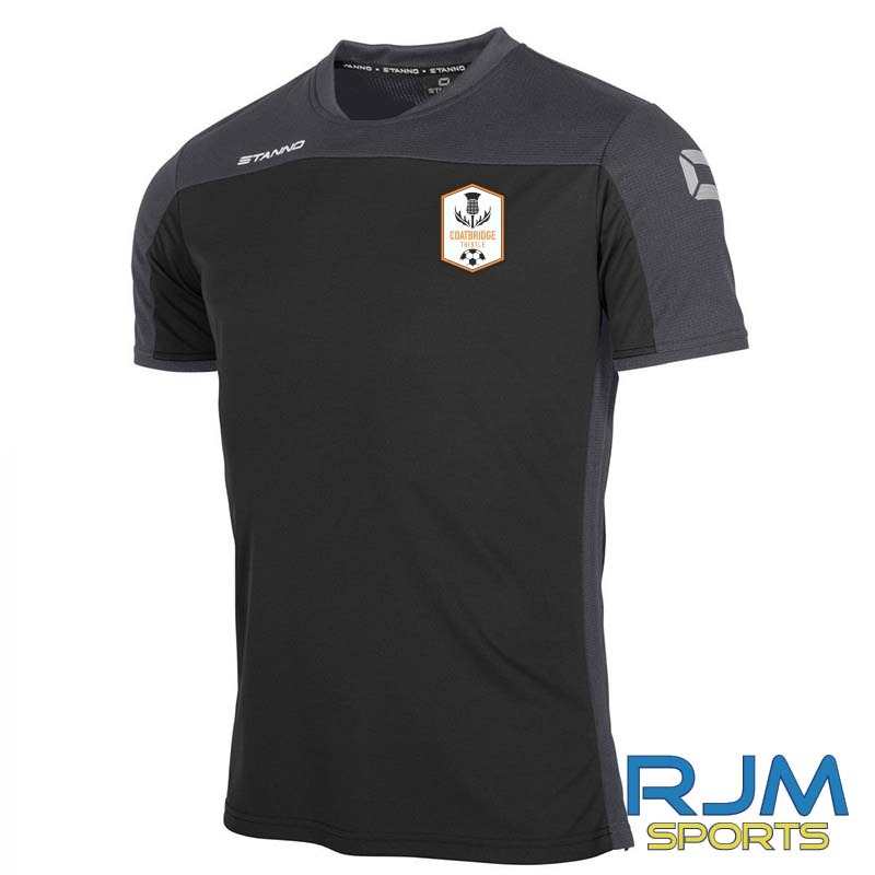 Coatbridge Thistle FC Coaches Stanno Pride T-Shirt Black Anthracite