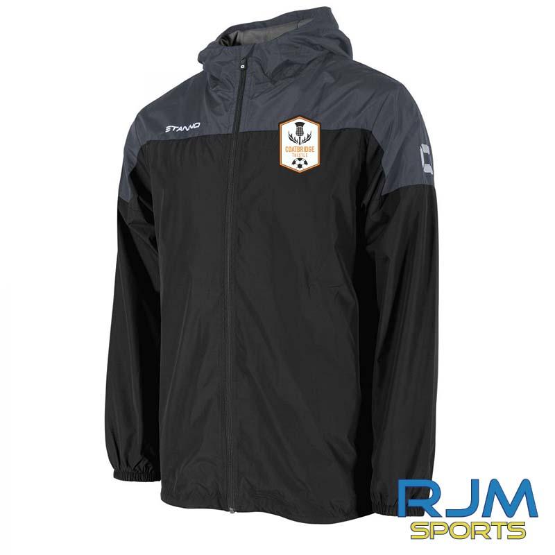 Coatbridge Thistle FC Coaches Stanno Pride Windbreaker Black Antracite