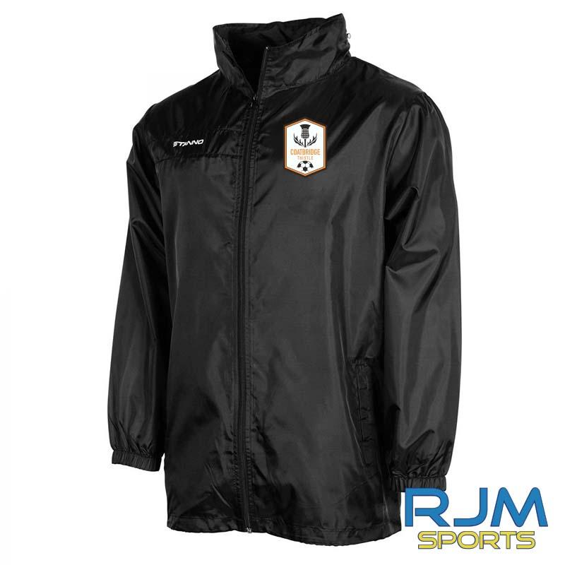 Coatbridge Thistle FC Players Stanno Field All Weather Jacket Black