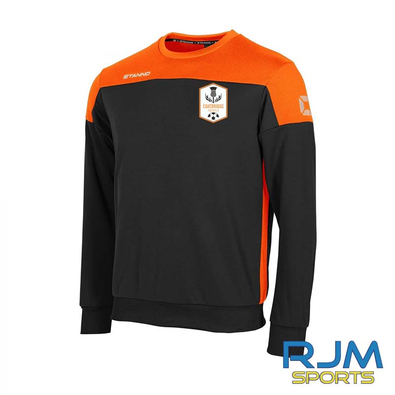 Coatbridge Thistle FC Players Stanno Pride Sweatshirt Black Orange