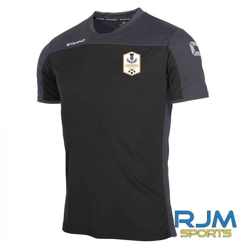 Coatbridge Thistle FC Players Stanno Pride T-Shirt Black Anthracite