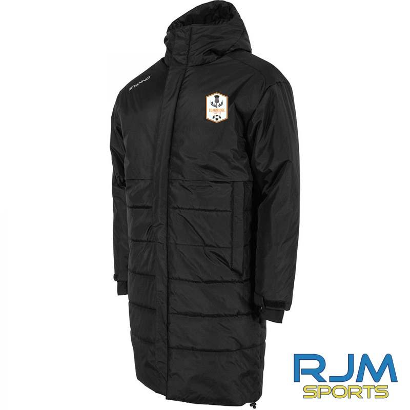 Coatbridge Thistle FC Stanno Prime Long Coach Jacket Black