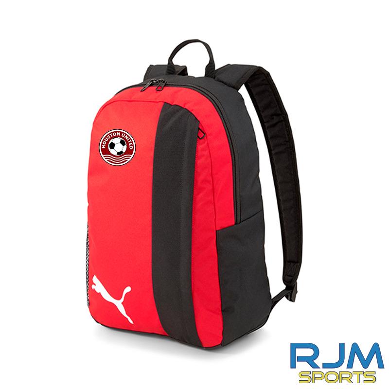 Houston United FC Puma Goal Backpack Red Black