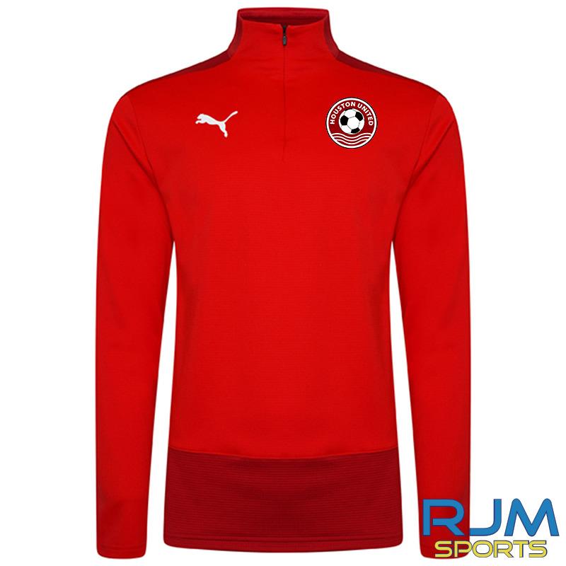 Houston United FC Puma Goal Quarter Zip Top Red