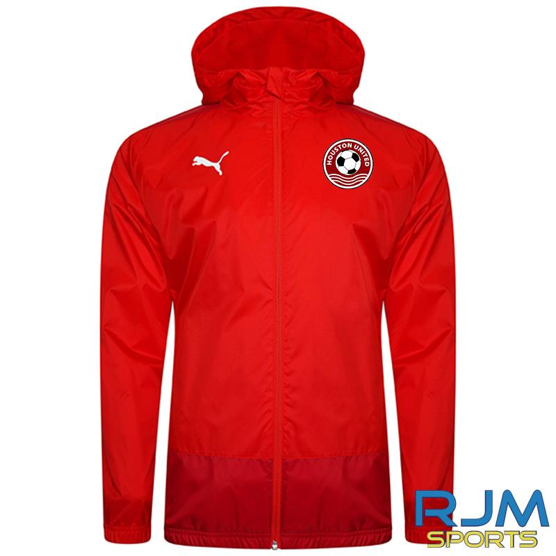Houston United FC Puma Goal Rain Jacket Red