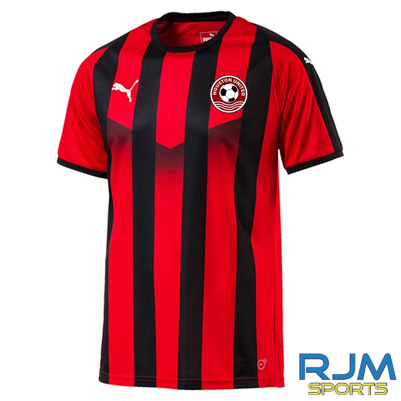 Houston United FC Puma Liga Striped Jersey Red Black