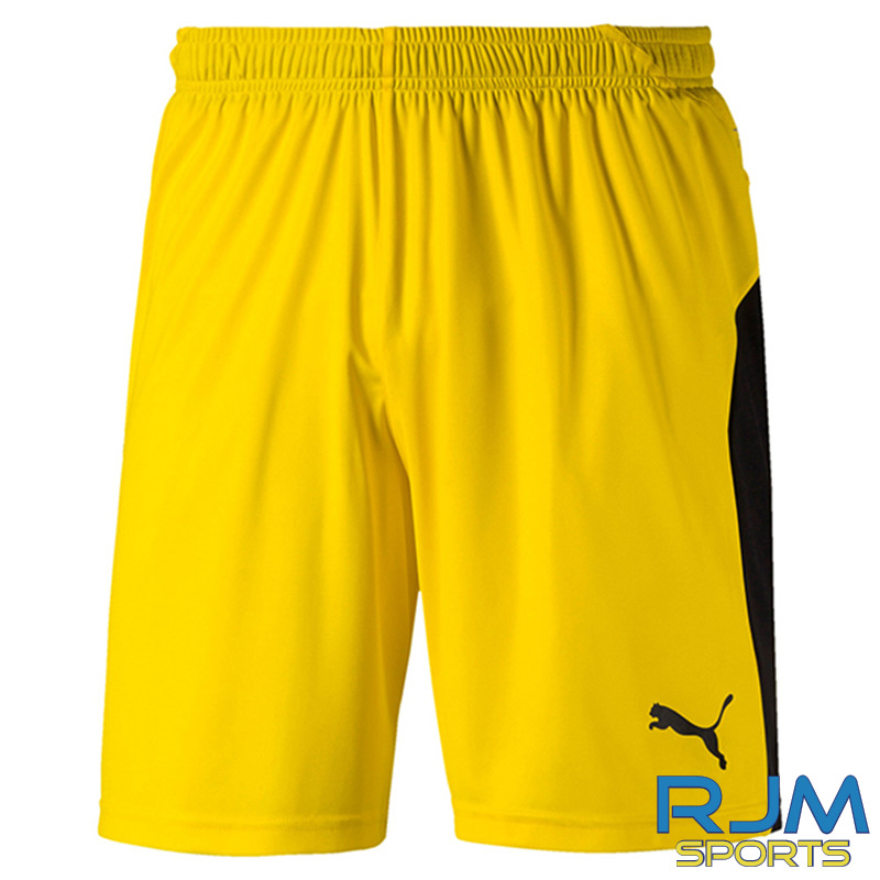 Houston United FC Puma Liga GK Home Shorts Yellow Black