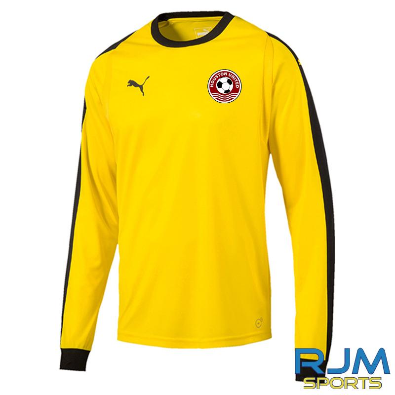 Houston United FC Puma Liga Long Sleeve GK Home Jersey Yellow Black