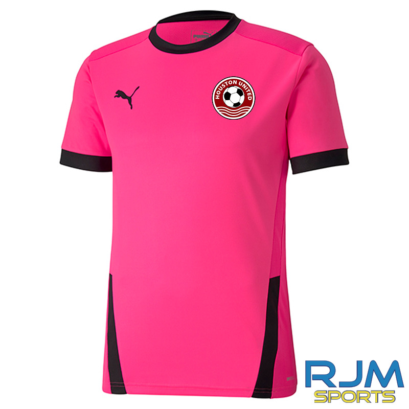 Houston United FC Girls Puma Goal Short Sleeve Shirt Fluo Pink/Black