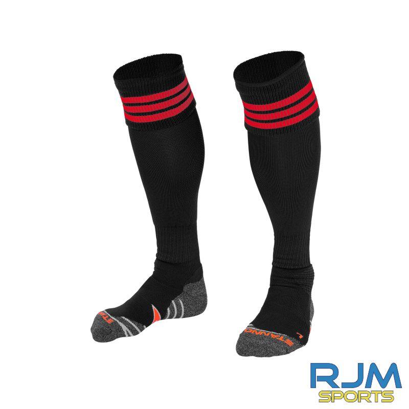 Coatbridge Rovers FC Stanno Ring Home Socks Black Red